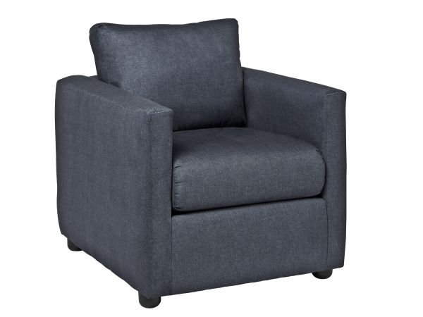 Levi Blue Denim Chair 1