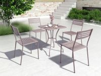 Set of 4 Wald Outdoor Dining Chairs Image 16