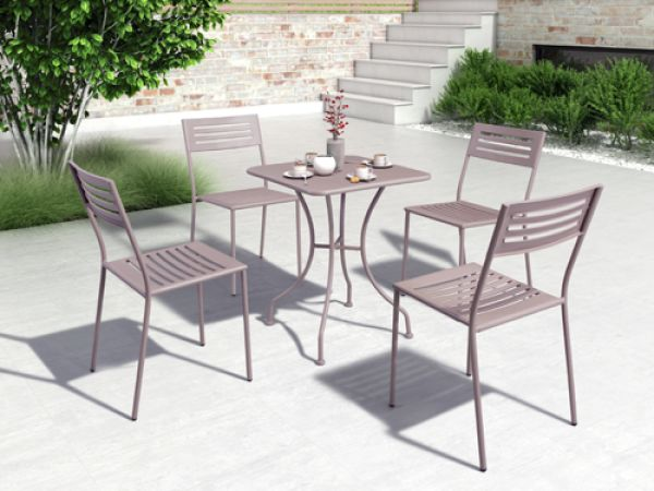 Set of 4 Wald Outdoor Dining Chairs